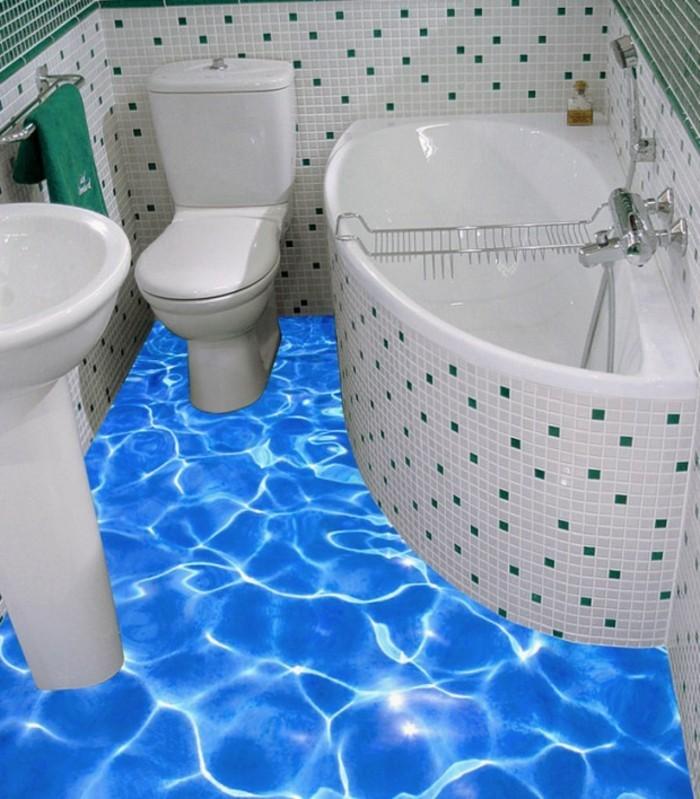 Wandtattoo-Badezimmer-wie-über-Wasser