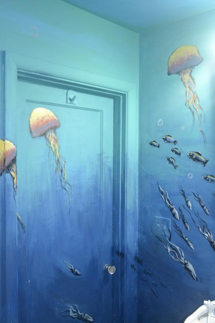 Wandtattoo Badezimmer Fische