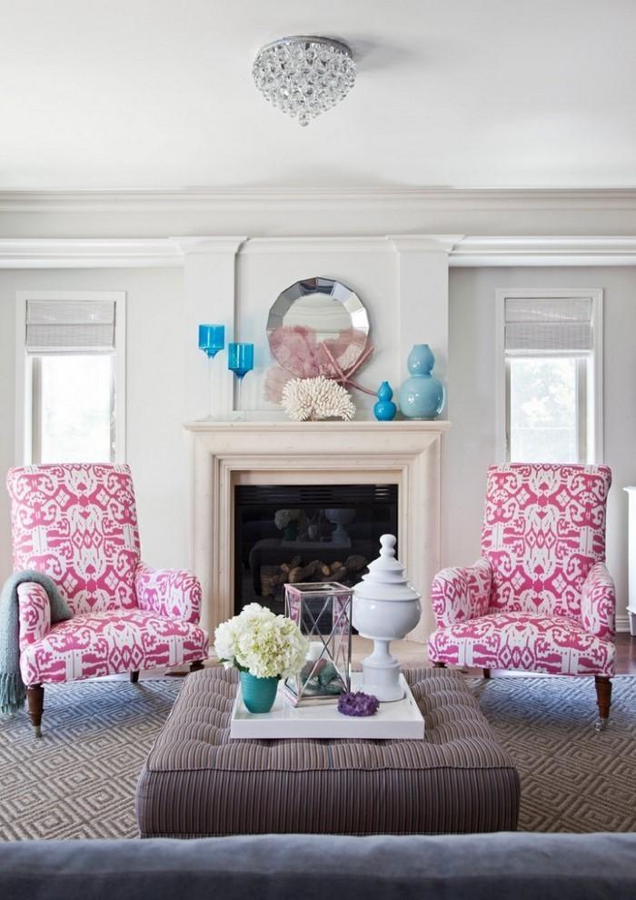 Wohnzimmer-Ideen-mit-Rosa-Ein-außergewöhnliches-Design