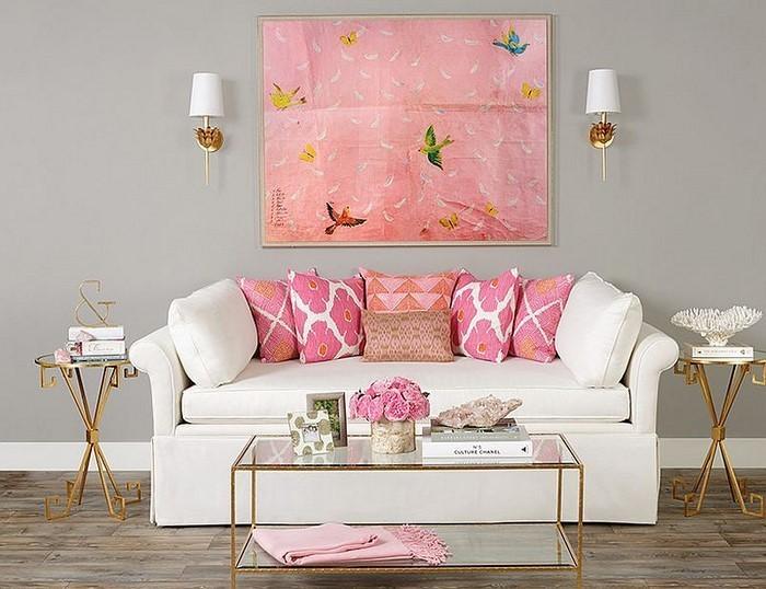 Wohnzimmer-Ideen-mit-Rosa-Ein-außergewöhnliches-Interieur