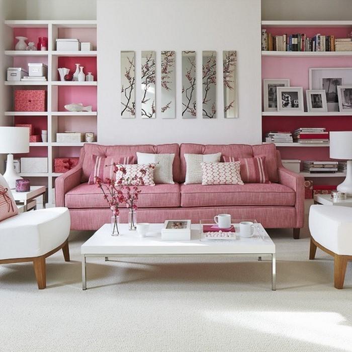 Wohnzimmer-Ideen-mit-Rosa-Ein-auffälliges-Interieur