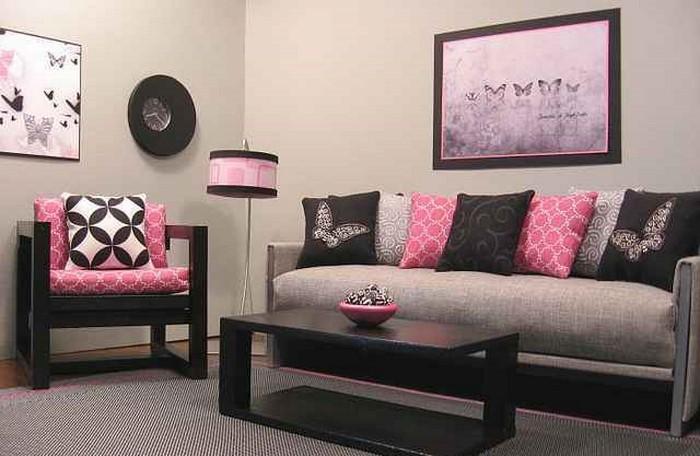 Wohnzimmer Beige Rosa Haus Design Ideen
