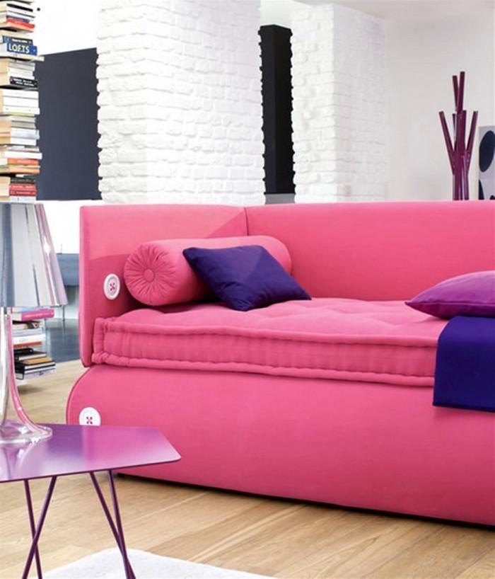 Wohnzimmer Ideen Mit Rosa Ein Kreatives Design