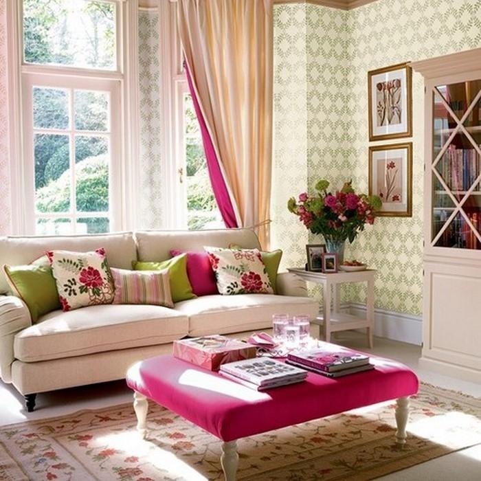 Wohnzimmer-Ideen-mit-Rosa-Ein-kreatives-Interieur