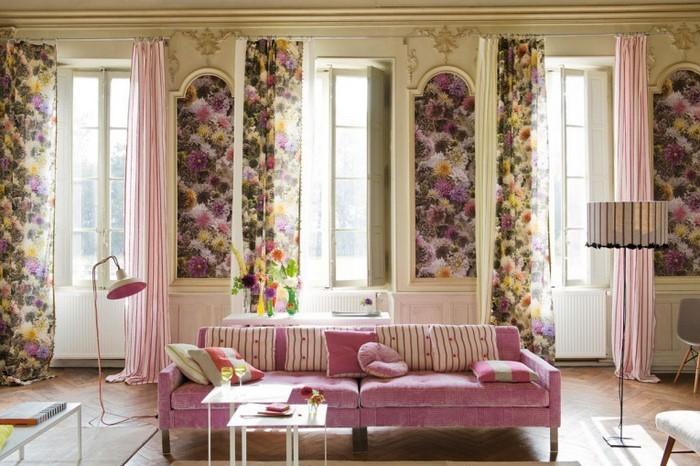 Wohnzimmer-Ideen-mit-Rosa-Ein-tolles-Design
