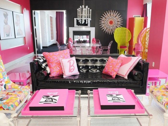Wohnzimmer-Ideen-mit-Rosa-Ein-tolles-Interieur
