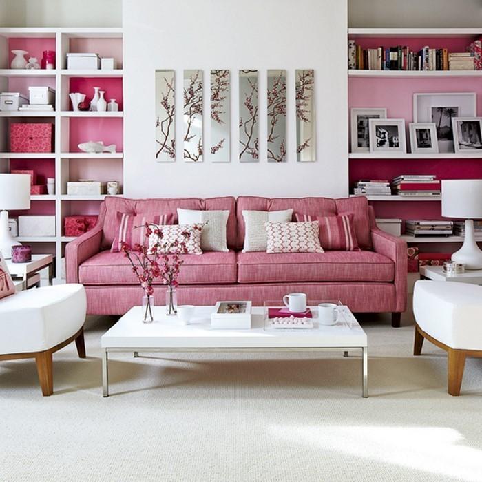 Wohnzimmer-Ideen-mit-Rosa-Ein-verblüffendes-Design