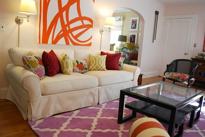 Wohnzimmer-Ideen-mit-Rosa-Ein-verblüffendes-Interieur