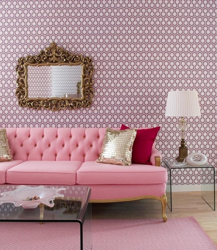 Wohnzimmer-Ideen-mit-Rosa-Ein-wunderschönes-Design