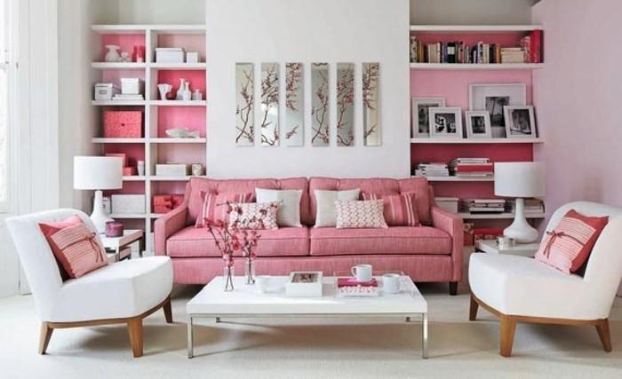 wohnzimmer ideen mit rosa eine auergewhnliche ausstattung - Wohnzimmer Ideen Rosa