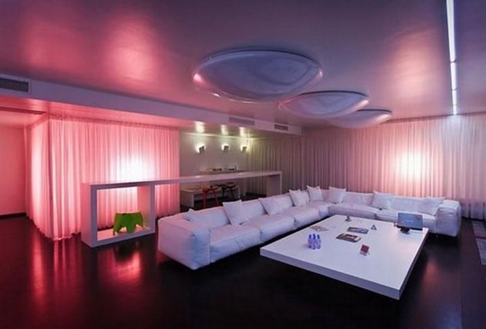 Wohnzimmer-Ideen-mit-Rosa-Eine-außergewöhnliche-Deko