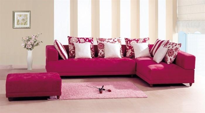 Wohnzimmer-Ideen-mit-Rosa-Eine-außergewöhnliche-Dekoration