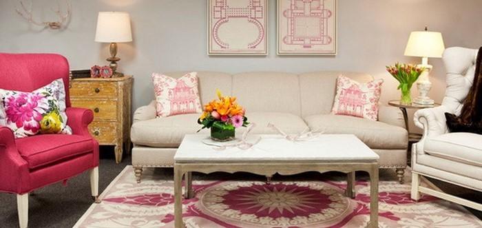 wohnzimmer weis rosa haus design ideen