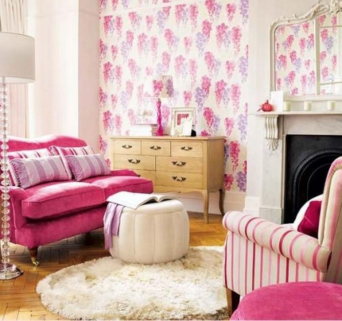 Wohnzimmer-Ideen-mit-Rosa-Eine-außergewöhnliche-Gestaltung