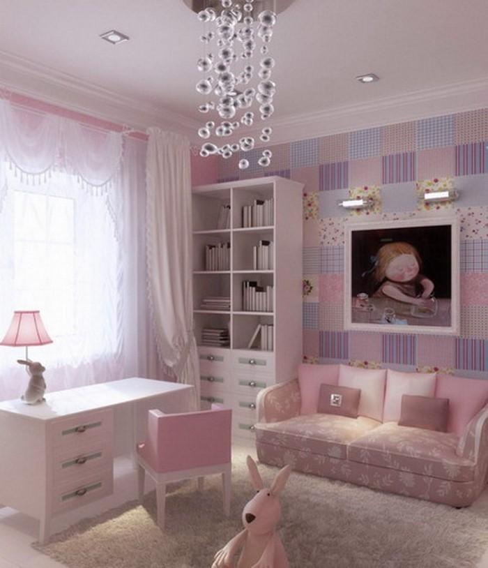 Wohnzimmer-Ideen-mit-Rosa-Eine-auffällige-Atmosphäre