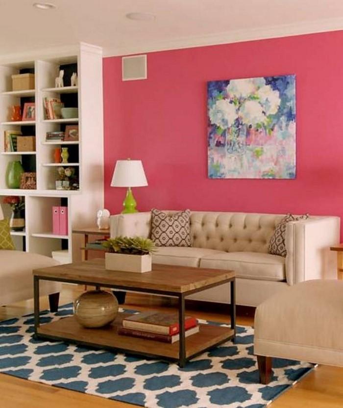 Wohnzimmer-Ideen-mit-Rosa-Eine-auffällige-Ausstrahlung