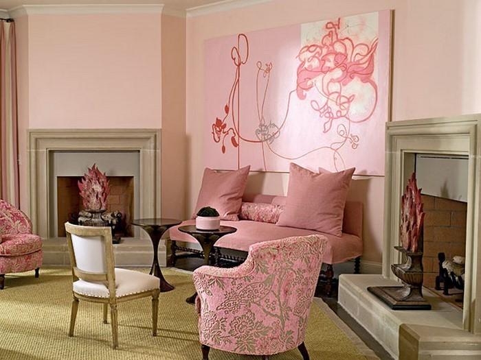 Wohnzimmer-Ideen-mit-Rosa-Eine-auffällige-Gestaltung