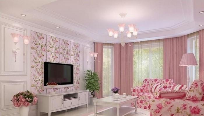 coole wohnzimmer ideen:Wohnzimmer Ideen mit Rosa: 75 verblüffende Wohnzimmer Ideen