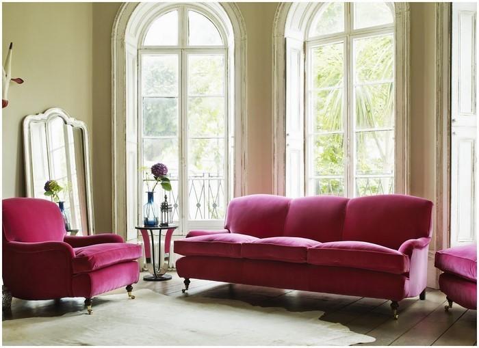 wohnzimmer rosa weiß:Wohnzimmer Ideen mit Rosa: 75 verblüffende Wohnzimmer Ideen