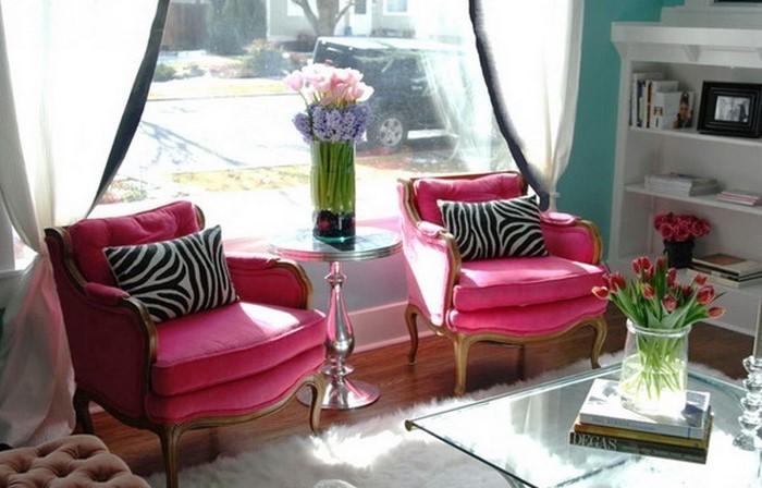 Wohnzimmer-Ideen-mit-Rosa-Eine-coole-Entscheidung