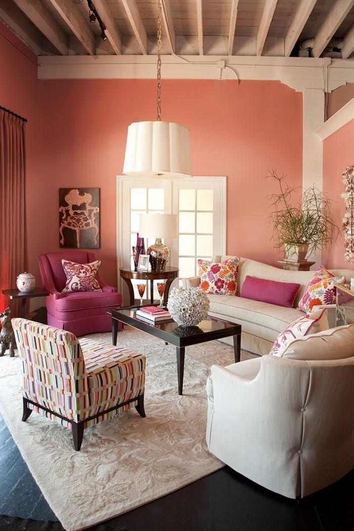Wohnzimmer-Ideen-mit-Rosa-Eine-kreative-Ausstrahlung