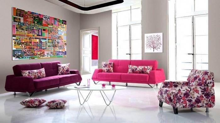 Wohnzimmer-Ideen-mit-Rosa-Eine-kreative-Deko