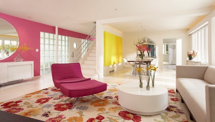 wohnzimmer ideen mit rosa: 75 verblüffende wohnzimmer ideen - Wohnzimmer Ideen Rosa