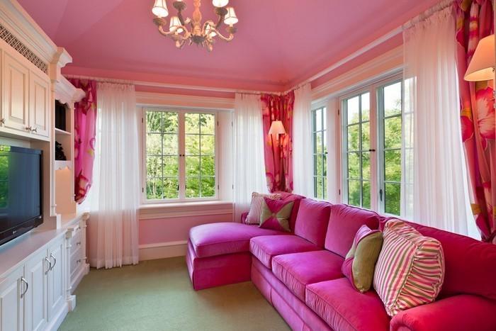 Wohnzimmer-Ideen-mit-Rosa-Eine-super-Ausstrahlung