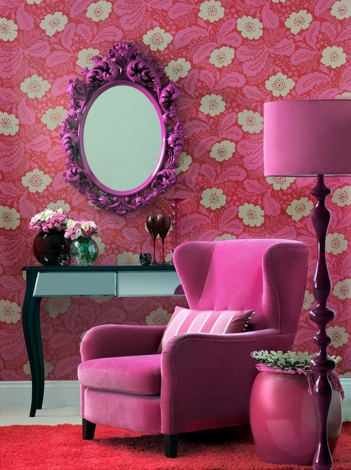 Wohnzimmer Ideen Mit Rosa Eine Tolle Ausstattung
