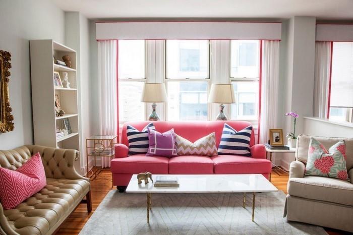 design : wohnzimmer weiß grau rosa ~ inspirierende bilder von ... - Wohnzimmer Ideen Rosa