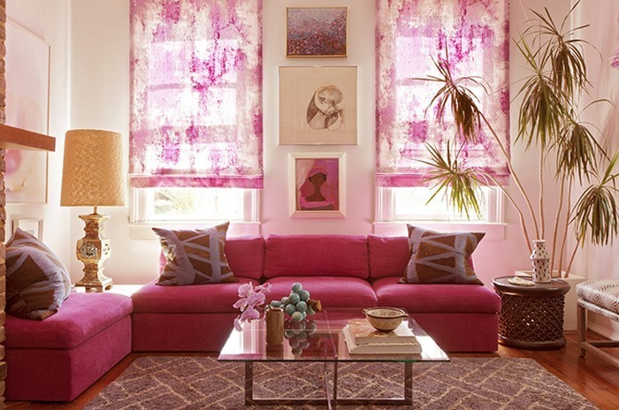 Wohnzimmer-Ideen-mit-Rosa-Eine-verblüffende-Ausstattung