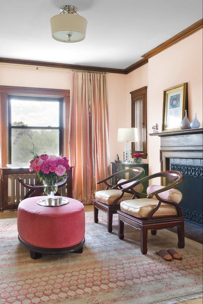 Wohnzimmer-Ideen-mit-Rosa-Eine-verblüffende-Ausstrahlung