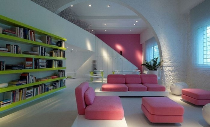 Wohnzimmer-Ideen-mit-Rosa-Eine-verblüffende-Entscheidung