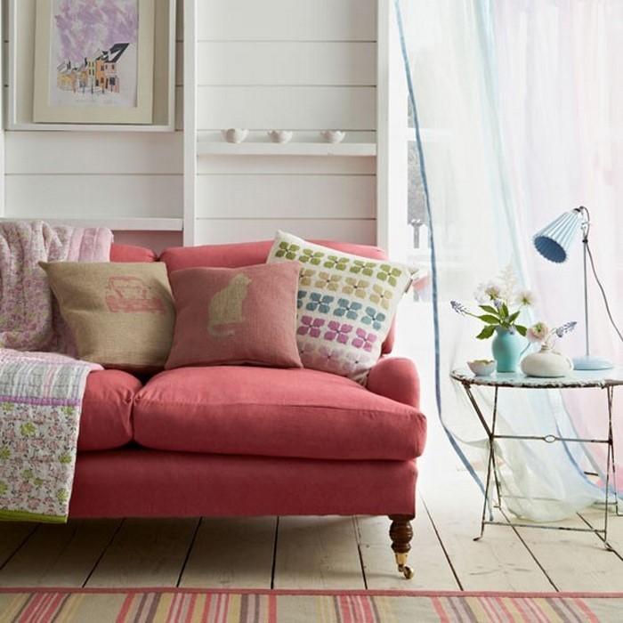 Wohnzimmer-Ideen-mit-Rosa-Eine-verblüffende-Gestaltung