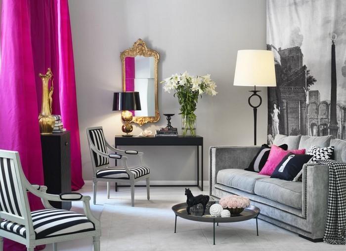 wohnzimmer beige rosa
