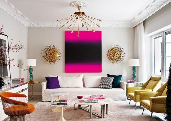 Wohnzimmer-Ideen-mit-Rosa-Eine-wunderschöne-Ausstrahlung