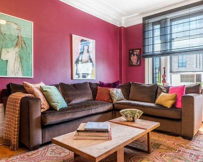 Wohnzimmer-Ideen-mit-Rosa-Eine-wunderschöne-Deko