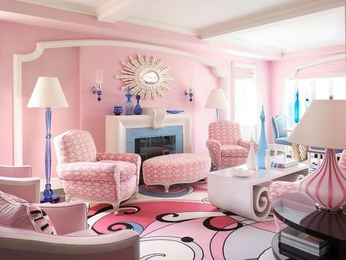Wohnzimmer-Ideen-mit-Rosa-Eine-wunderschöne-Dekoration