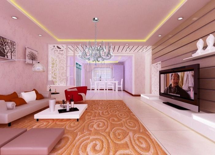 Wohnzimmer Beige Rosa  Wohnzimmer Ideen