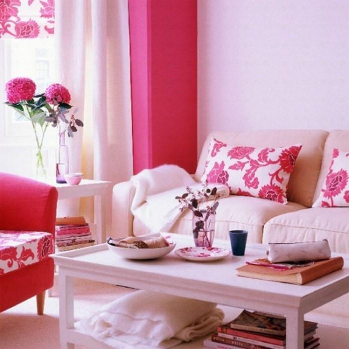 Wohnzimmer-Ideen-mit-Rosa-Eine-wunderschöne-Gestaltung