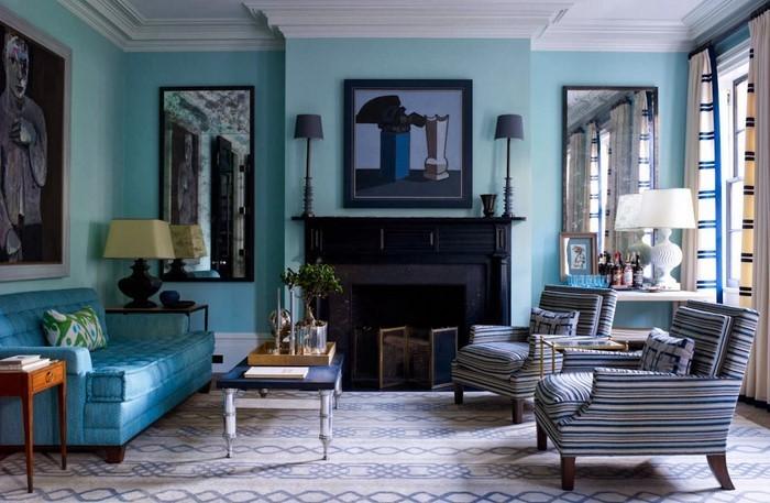 Wohnzimmer-farblich-gestalten-blau-Ein-verblüffendes-Interieur