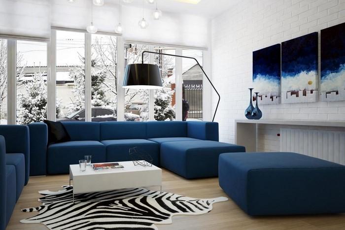 Wohnzimmer-farblich-gestalten-blau-Eine-außergewöhnliche-Atmosphäre