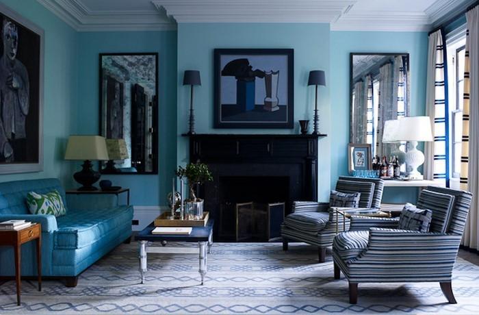 Wohnzimmer-farblich-gestalten-blau-Eine-auffällige-Dekoration