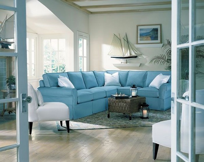 Wohnzimmer-farblich-gestalten-blau-Eine-coole-Atmosphäre