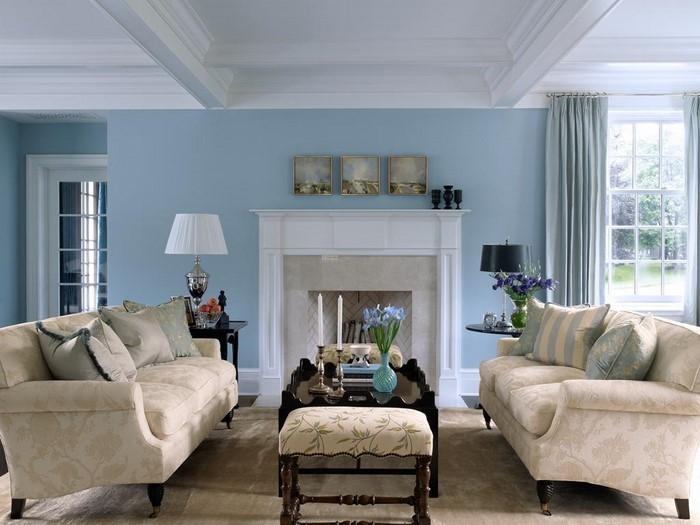 Wohnzimmer-farblich-gestalten-blau-Eine-coole-Ausstattung