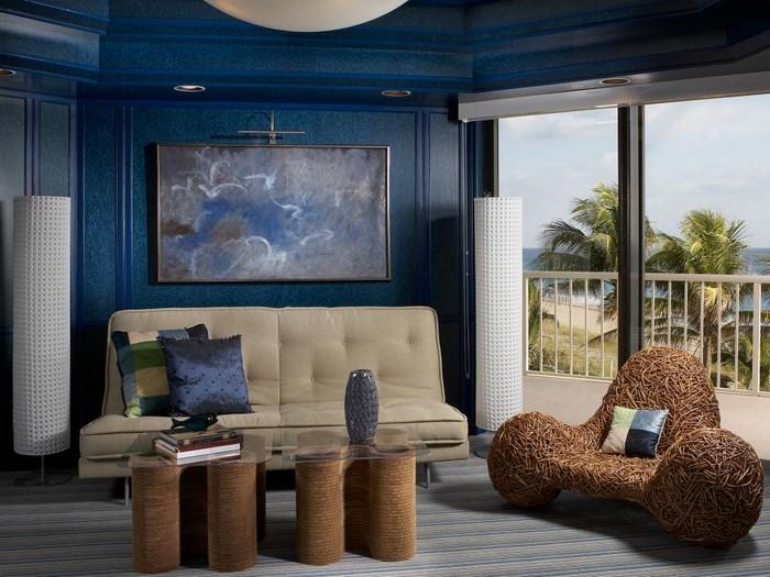 wohnzimmer petrol blau wohnzimmer farblich gestalten wohnideen mit der farbe blau