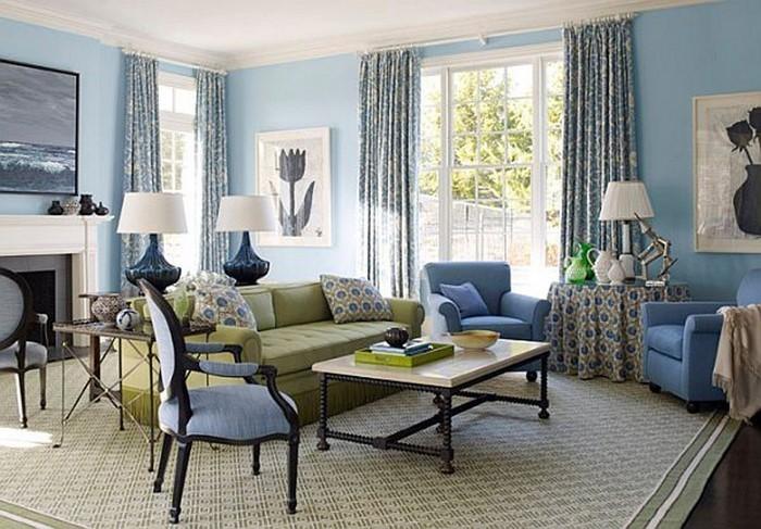 Wohnzimmer-farblich-gestalten-blau-Eine-coole-Gestaltung