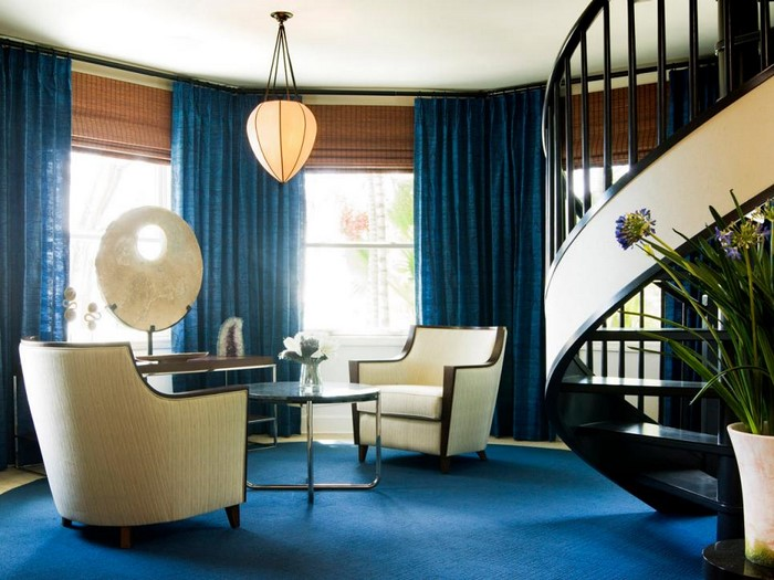 Wohnzimmer Farblich Gestalten: 71 Wohnideen Mit Der Farbe Blau Wohnzimmer Gestalten Blau