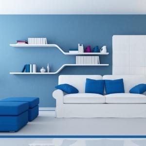 Wohnzimmer farblich gestalten: 71 Wohnideen mit der Farbe Blau