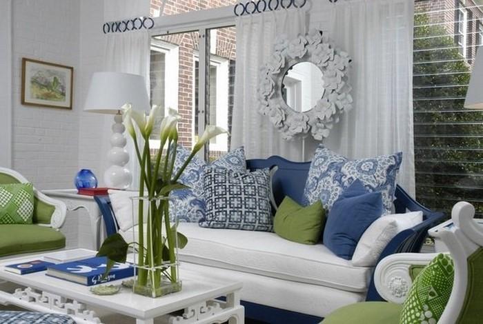 Fabulous Wohnzimmer Farblich Gestalten Wohnideen Mit Der Farbe Blau With  Wohnzimmer Farben Blau